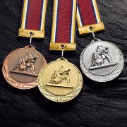 二人消防メダル